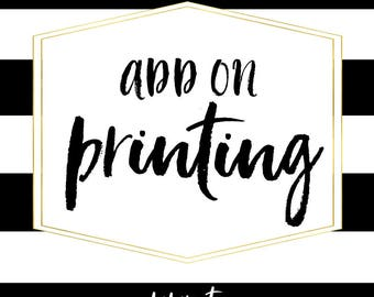 Add-on Professional Printing Service, 5x7 Prints on 110 lb Cardstock, Single-sided printing, Envelopes included