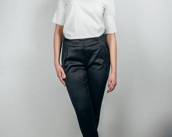High waisted trousers, Pants women, high waist pants, Black trousers, black pants, women trousers, women pants, black trousers women