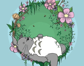 Totoro Digital Painting Print
