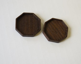 Octagonal bezel tray settings fine finished - Sailors Valentine - 32 mm  Cavity - (F82-W) - Set of 2