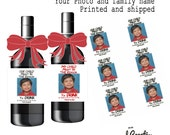 Teacher/Child Care Appreciation CUSTOM Wine Labels Reason you Drink (6 Labels) Your Photo/Family Name- My/Our child See listing for Options