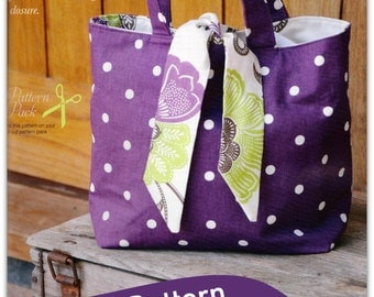 Reversible Contrast Tied Tote Bag Sewing Pattern