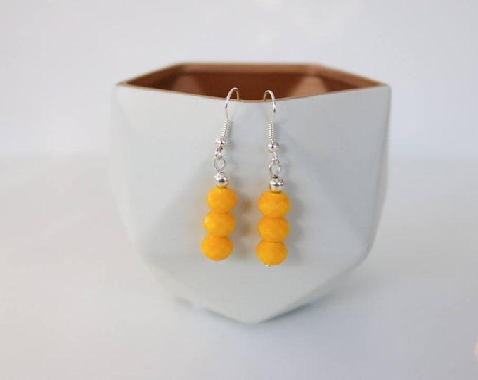 Mustard Yellow Drop Earrings.
