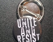 Unite and RESIST pin dump trump buttons pins badges pinback button resistance feminists feminism womens rights smash the patriarchy