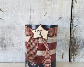 Primitive Flag Tin, Americana Decor, Primitive Decor, RED White Blue,  Country Decor, Stars & Stripes, Patriotic Decor, Summer Decor
