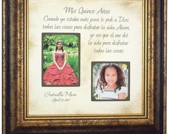 Quinceanera Frame, Mis Quince Años Picture Frame, Personalized Quince Gift, 15 Years Gift, Quinceañera Gift, Quinceañera Photo Frame, 16x16