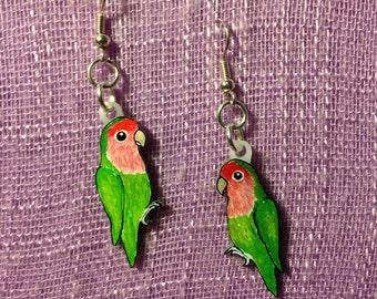 Lovebird Parrot Earrings