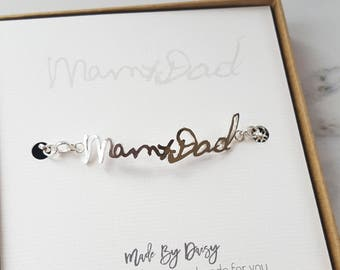 Handwriting Bracelet, Handwriting Jewelry, Custom Handwriting, Personalised Handwriting Bracelet, Actual Handwriting Bracelet, Sympathy Gift