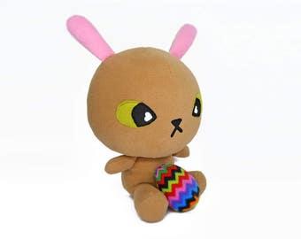 BIG Angry Easter Bunny and egg plushie ,  kawaii plush toy