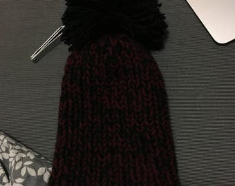 Slouchy Winter Hat With Knit Pompom