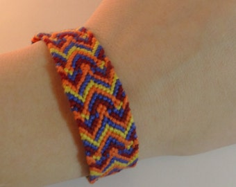 Wide Chevron Friendship Bracelet