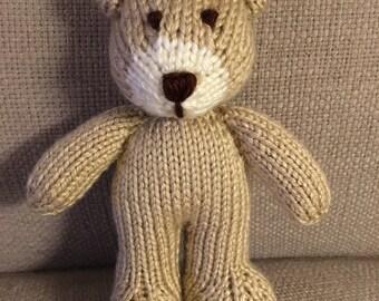 Teddy Bear - Stuffed Animal - Knitted Bear - Mini Knitted Bear - Photo Prop - Stuffed Bear - Soft Toy - Handmade Toy