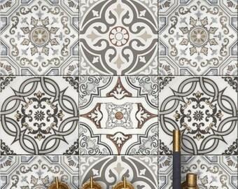 Art Deco Kitchen/ Bathroom Backsplash Tile/ Wall/ Stair/ Floor /Furniture Decal : Pack of 44