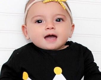 Bow Headband, Toddler Bow Headband, Infant Headband, Yellow Headband, Bow Headpiece, Headband with Bow, Baby Accessories, Mini Bow Headband