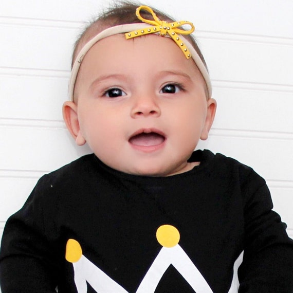 Baby Bow Headband, Yellow Headband, Infant Headband, Toddler Headband, Bow Headpiece, Headband with Bow, Baby Accessories, Mini Bow Headband