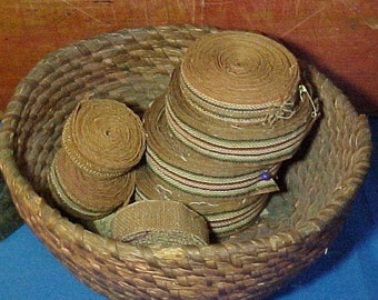 Antique Shaker Chair Tape, Cotton Twill Tape, Removed From Old Chairs, Primitive Textile, Bowl Filler