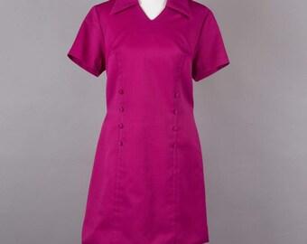 1960s deep pink vintage shift dress