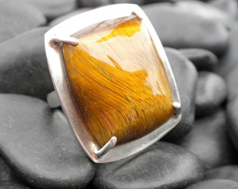 Tiger Eye and Sterling Silver ring