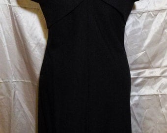 Vintage Victor Costa 2 Piece Black and White Halter Dress with Bolero Top