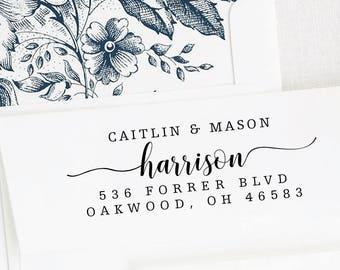 Address stamp Name self inking - return address stamp - Wedding Gift, Bridal Shower Gift, Realtor Gift, Housewarming Gift, Christmas RE925