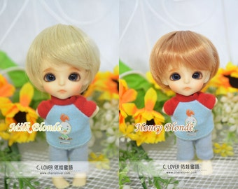 bjd doll boy wig W-3 (6 colors) 1/12 lati white fl pukipuki