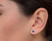 Stud Earrings Bridesmaid Earrings Jewelry Sets Boho Earrings Amethyst EarringsBridal EarringsEveryday EarringsGemstone Earrings JE232