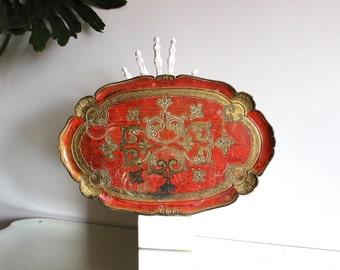 Oval Italian Florentine Tray