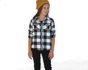 Laramie Shirt, Tunic, and Dress, girls, juniors, tweens, teens woven shirt, 3/4 or long sleeves, button down collar pdf sewing pattern
