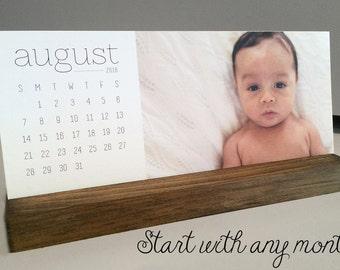 Photo Desk Calendar // Custom Photo Calendar // Calendar with Stand // Personalized Calendar // Custom Desk Calendar // Photo Calendar