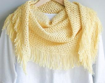 Festival Fringe Scarf PDF Crochet Pattern. Buy 1, get 1 free