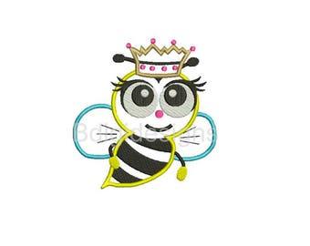 Bee Applique Embroidery Design