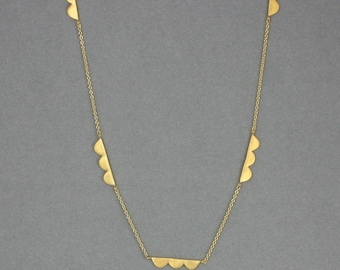 Scalloped Chain Necklace