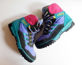 """Vintage 1980s lightweight boots or high tops, """"Walk at Fun"""" by ADIDAS, women's size US7