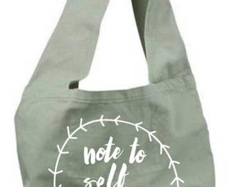 Note to self relax / tote bag / travel bag / overnight bag