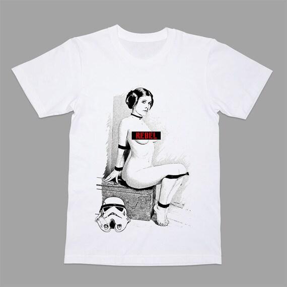 Rebel T-shirt Princess Leia Tee Shirt Tshirt Movie Star Wars Old Princess Leia Shirts