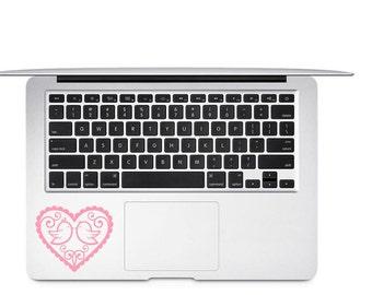 Love Birds Decal - Love Birds Vinyl Decal - Heart Decal - Bird Car Decal - Coffee Mug Decal - Heart Laptop Decal - Love Bird Sticker - Birds