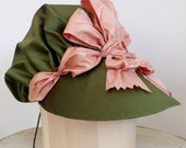 Custom 18th Century Bonnet - Historical Silk Bonnet - 1770s 1780s 1790s Style - Made To Order - Your Choice of Colors and Trim