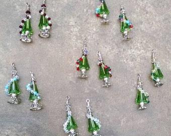 Swarovski Holiday Tree Earrings