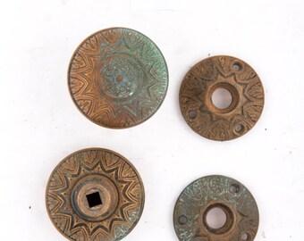 Corbin Antique Bronze Doorknobs & Rosettes 531308