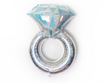 "38"" Engagement Ring Balloon - Wedding Ring - Bachelorette Party - Engagement Party - Bridal Shower - Mylar Balloon -  Diamond - Girls Night"