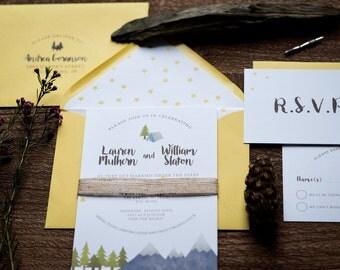 camping wedding invitations - Camping Wedding Invitations