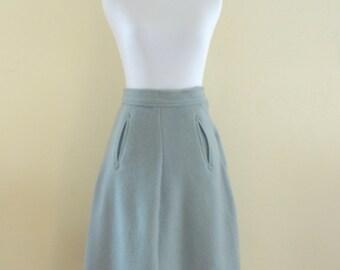 SALE! 50s Blue/Gray High Waist Rockabilly Skirt. XS/Small