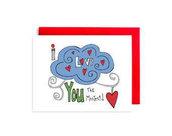 I Love You Card for Boyfriend, Wife, Fiance, Girlfriend - Anniversary Card for Husband - I Love You the Mostest
