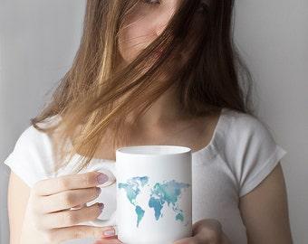 Vintage map coffee mug atlas mug world map mug gift for world map mug coffee mug unique coffee mug world map cup coffee gumiabroncs Image collections
