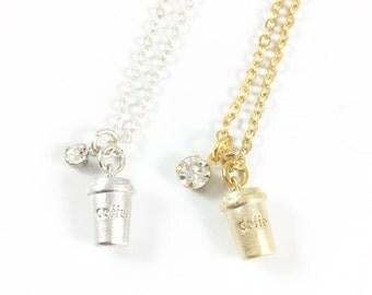 Coffee Gifts, Coffee Lovers Gift, Coffee Necklace, Coffee Cup Necklace, Coffee Jewelry, Coffee Addict, Coffee Time, Teacher Appreciation