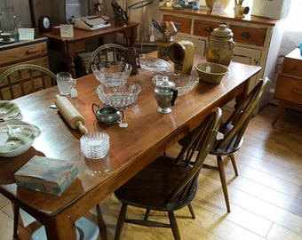 REDUCED REDUCED REDUCED Edwardian 8 seater Pine Farmhouse Kitchen Table