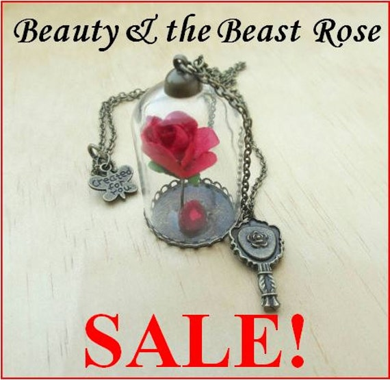 Beauty Amp The Beast Enchanted Rose Necklace By Imajineart