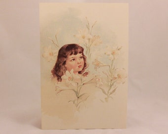 NEW! Vintage Gallery Graphics Single Greeting Card with Envelope. Lilly