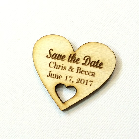 Items Similar To Save The Date Small Wood Wedding Save The