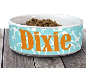 Monogrammed Pet Bowl, Personalized Dog Bowl, Cat Bowl, Pet Food Bowl, Pet Water Bowl